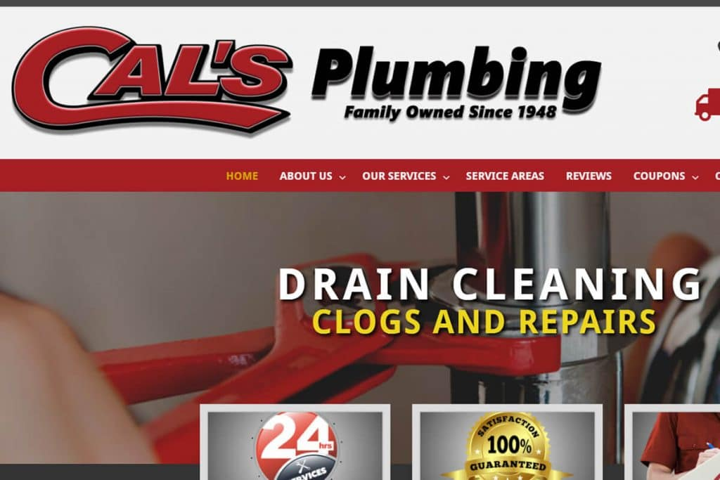 Cal's Plumbing web design projects Web Design Projects cals 1024x683