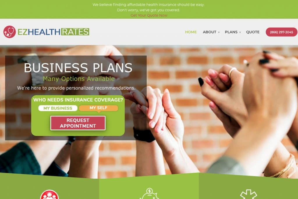 EZ Health Rates web design web designers near me Web Design for Professionals by Professional Web Designers ez grid 1024x683