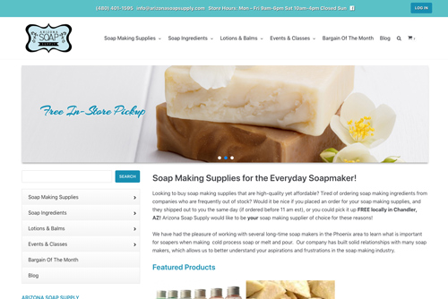 Arizona Soap Supply web design web designers near me Web Design for Professionals by Professional Web Designers AZSS
