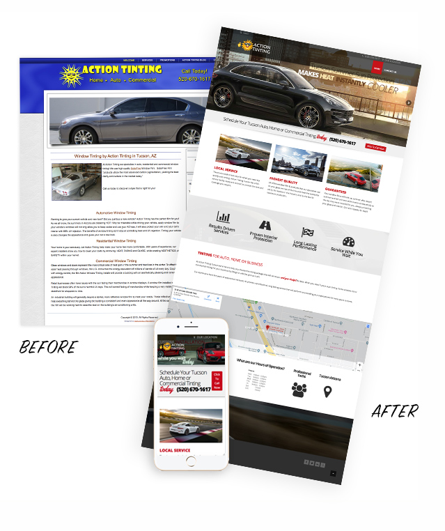 Action Tinting Tucson action tinting tucson before and after1