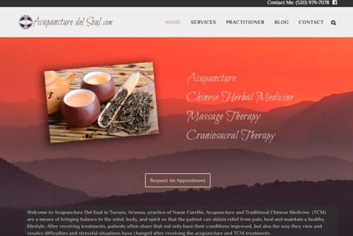 Acupuncture del Soul web design web designers near me Web Design for Professionals by Professional Web Designers acupuncturedelsoul2