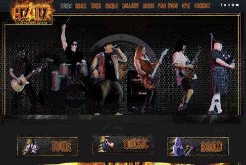 AZDZ Tribute web design projects Web Design Projects azdz