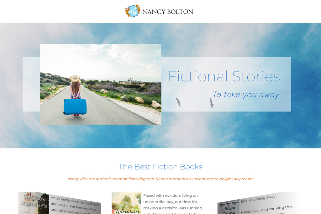 Nancy Bolton Books web design projects Web Design Projects nbb